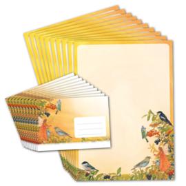 Briefpapier Elf en vogel, Daniela Drescher