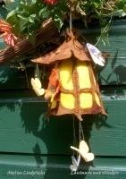 Lantaarn met vlinders, voor basis lampje (zelfmaakpakketje)