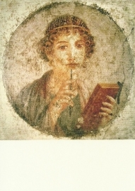 Schrijvend meisje, Pompeji