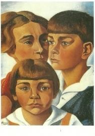 Portret van de kinderen Rädecker, Charley Toorop