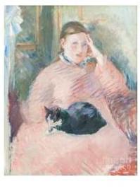 Vrouw met kat, Edouard Manet