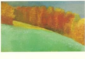 Fall maples, Wolf Kahn
