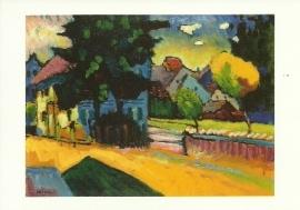 Murnau, voorstudie van landschap met groen huis, Wassily Kandinsky