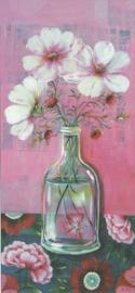 Retro bloemen in vaas