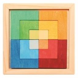 vierkante kleuren blok