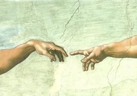 De schepping van Adam (detail), Michelangelo