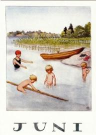 Juni, maandkaart Elsa Beskow