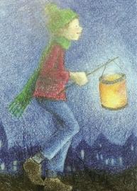 Jongen met lampion, Sanne Dufft