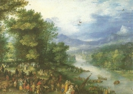Landschap met jonge Tobias, Pieter Brueghel de oudere