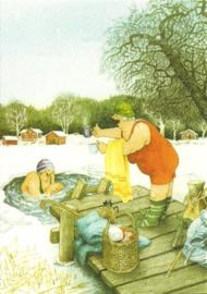 Vrouwen baden in een wak, Inge Löök