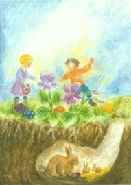 Maandkaart april, Pasen, Ilona Bock