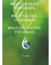 Magneet What you think you become what you feel you attract what you imagine you create