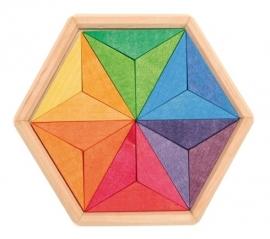 Regenboog Puzzel ster 18 stukjes (13cm)