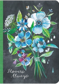 Amber Lotus notebook, Flowers always, Katie Daisy