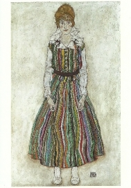 Portret van Edith Schiele, Egon Schiele