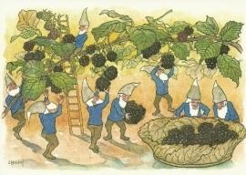 Dwergen bij het bramen plukken, Ernst Kreidolf