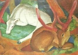 Herten in het bos, Franz Marc