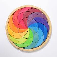 Regenboog puzzel groot