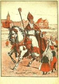 Sint Nicolaas in rood