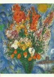 Boeket de hemel verlichtend, Marc Chagall