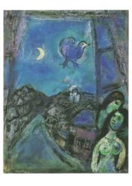 Avond bij het venster, Marc Chagall
