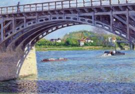 De brug bij Argenteuil en de Seine, Gustave Caillebotte