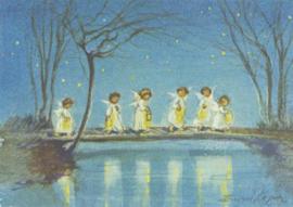 Zes engelen met lantaarns, Erica von Kager