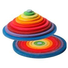 Cirkels en ringen regenboogkleur