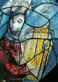 Koning David in de voltooiing, Marc Chagall
