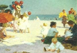 Aan het strand, Edward Henri Potthast