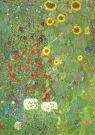 Boerentuin met zonnebloemen, Gustav Klimt