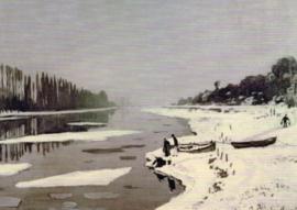 IJs op de Seine bij Bougival, Claude Monet