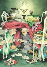 Vrouwen bij het theedrinken onder tafel, Inge Löök