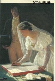 Tekenen bij het huwelijk, Edmund Blair Leighton