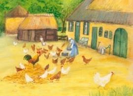 Kippen op het erf, Marjan van Zeyl