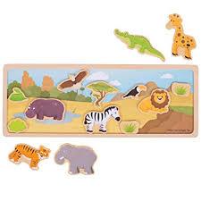 Magnetic Story Board, wilde dieren ( hout, 3+)