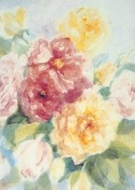 Engelse rozen, groot formaat, Marjan van Zeyl