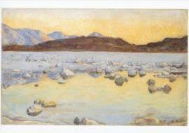 Maggiadelta voor zonsopgang, Ferdinand Hodler
