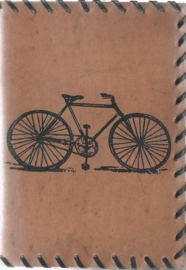 Only natural notebook leer, Fiets