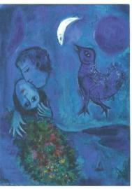 Blauw landschap, Marc Chagall