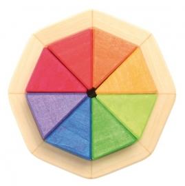 Regenboog octagon klein