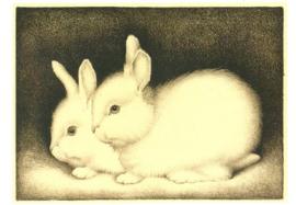 Twee konijntjes, Jan Mankes