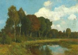 Landschap aan de Beke, Franz Bunke