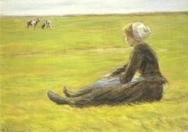 Jonge herderin met geiten, Max Liebermann