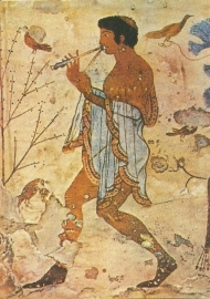 Dansende fluitspeler, Etruskisch