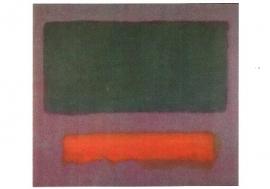 Grijs, oranje op kastanjebruin, Mark Rothko