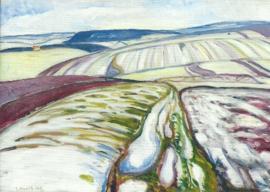 Smeltende sneeuw bij Elgersburg, Edvard Munch