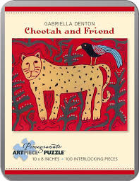 Artpiece Puzzle, Cheetah and friend ( 10x18 inches, 100 pcs)