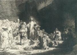Christus die de zieken geneest, Rembrandt