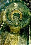 Engel van de nacht (detail), fresco
